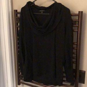 Black wide neck sweater